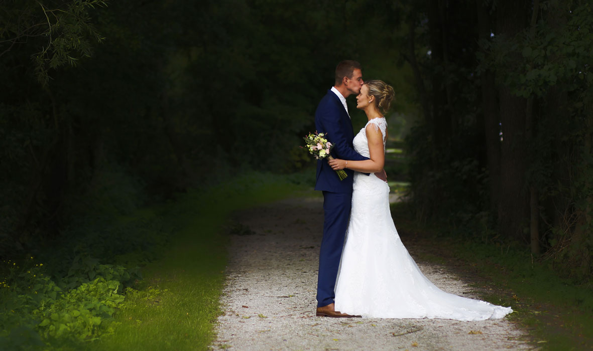 Cockley Wood Weddings, a young married couple